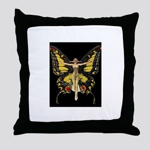 Art Deco Butterfly Flapper Jazz Age 1920s Throw Pi
